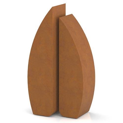 Corten steel urns