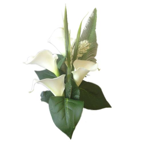 Silk memorial flowers