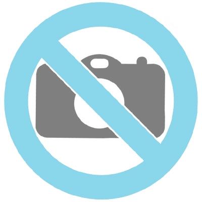 Hand painted urn cat black/white