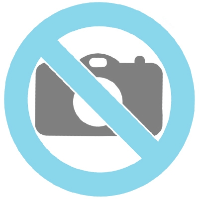 Ceramic urn grey with decorative orange stripes suitable for outside